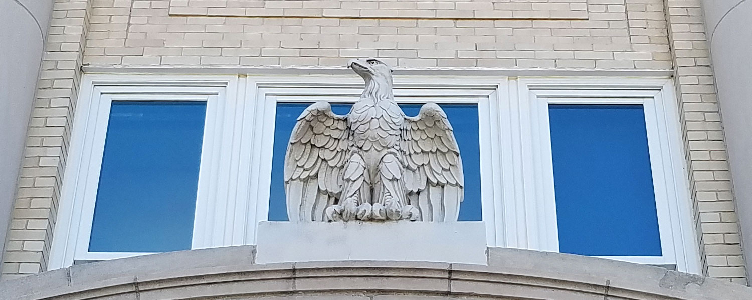 Otter Tail County Minnesota Courthouse Stone Eagle Statue