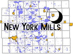 map - New York Mills, MN