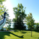 Loon statue in Vergas, MN