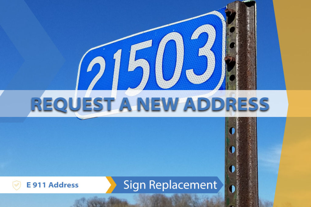 Sign Replacement or New Address Request map