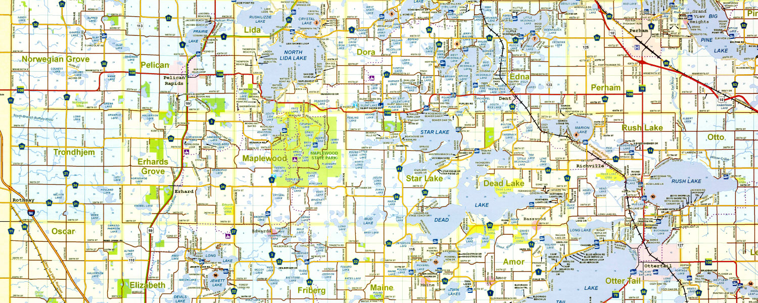County Highway Map | Otter Tail County, MN